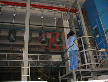 海尔热水器承压内胆喷搪自动生产线