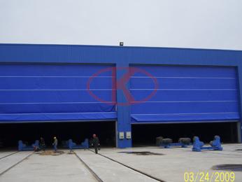风电塔筒机械回收式喷砂涂装房