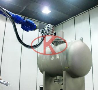 水处理设备全自动机器人喷砂房系统